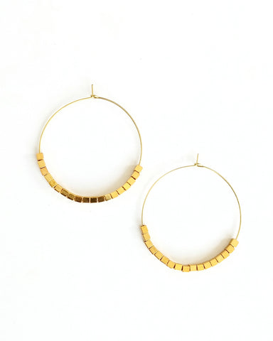 Engrid Earring with Chain  || Haitian Horn