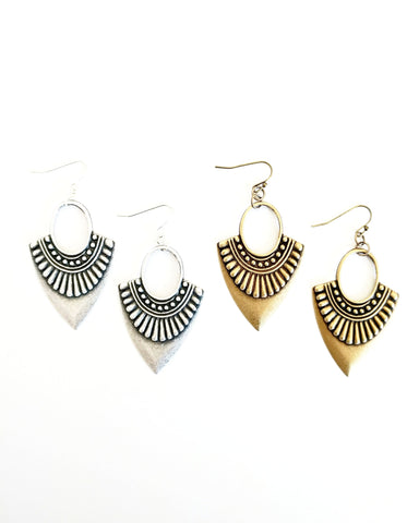 Etsi Earring || Hand Carved Haitian Wood