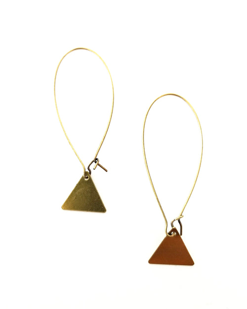 Esther Mini Brass Earrings || Choose Style