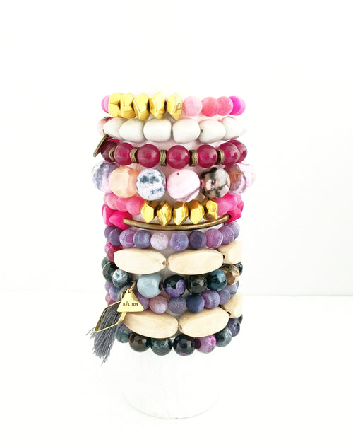 Assorted Pink + Purple Bracelet Bar || 12 Styles