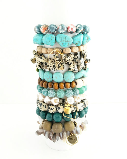 Assorted Turquoise Neutrals Bracelet Bar || 12 Styles