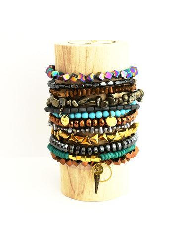 Assorted Spiky Bloomer + Bedum Bracelet Bar || 12 Styles