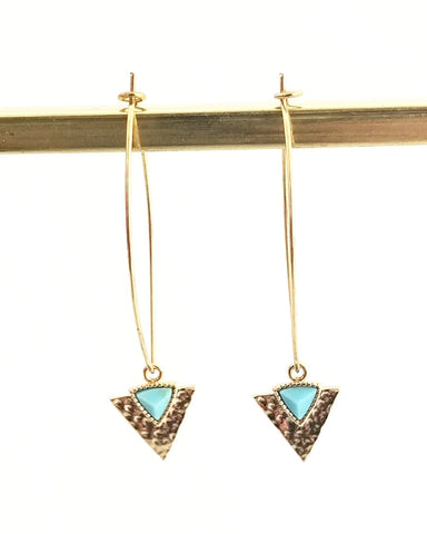 Eleena Square Earring || Choose Color