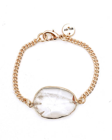 Beck Pearl + Chain Bracelet