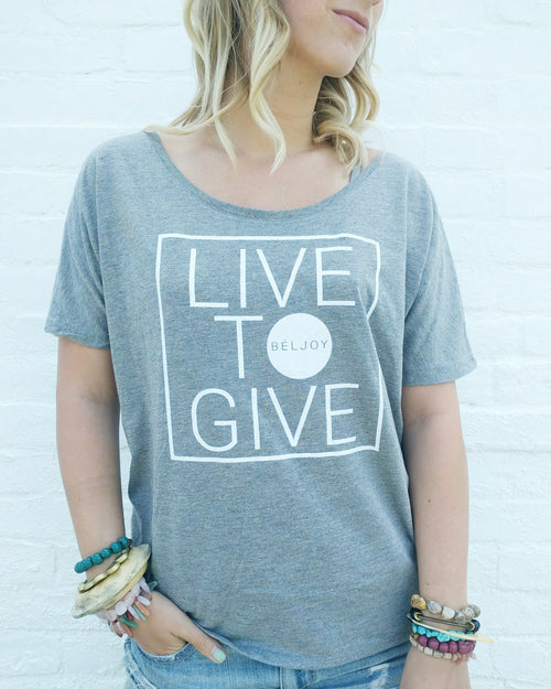 Live to Give Shirt || Light