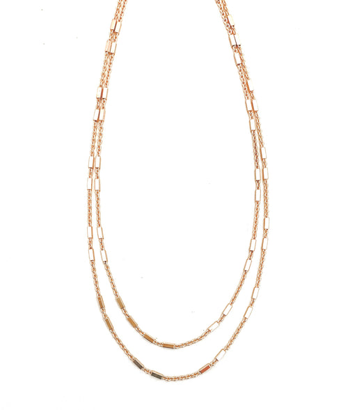 Hattie Double Layer Gold Necklace