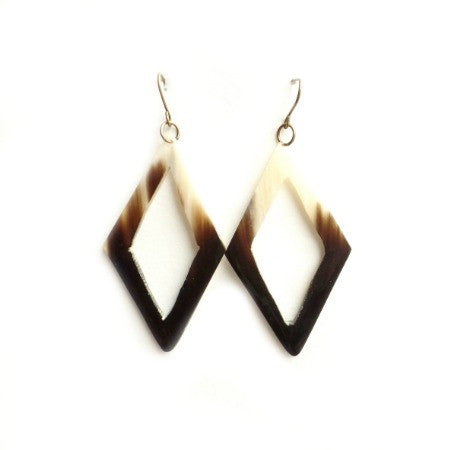 Edith Earrings || Haitian Horn