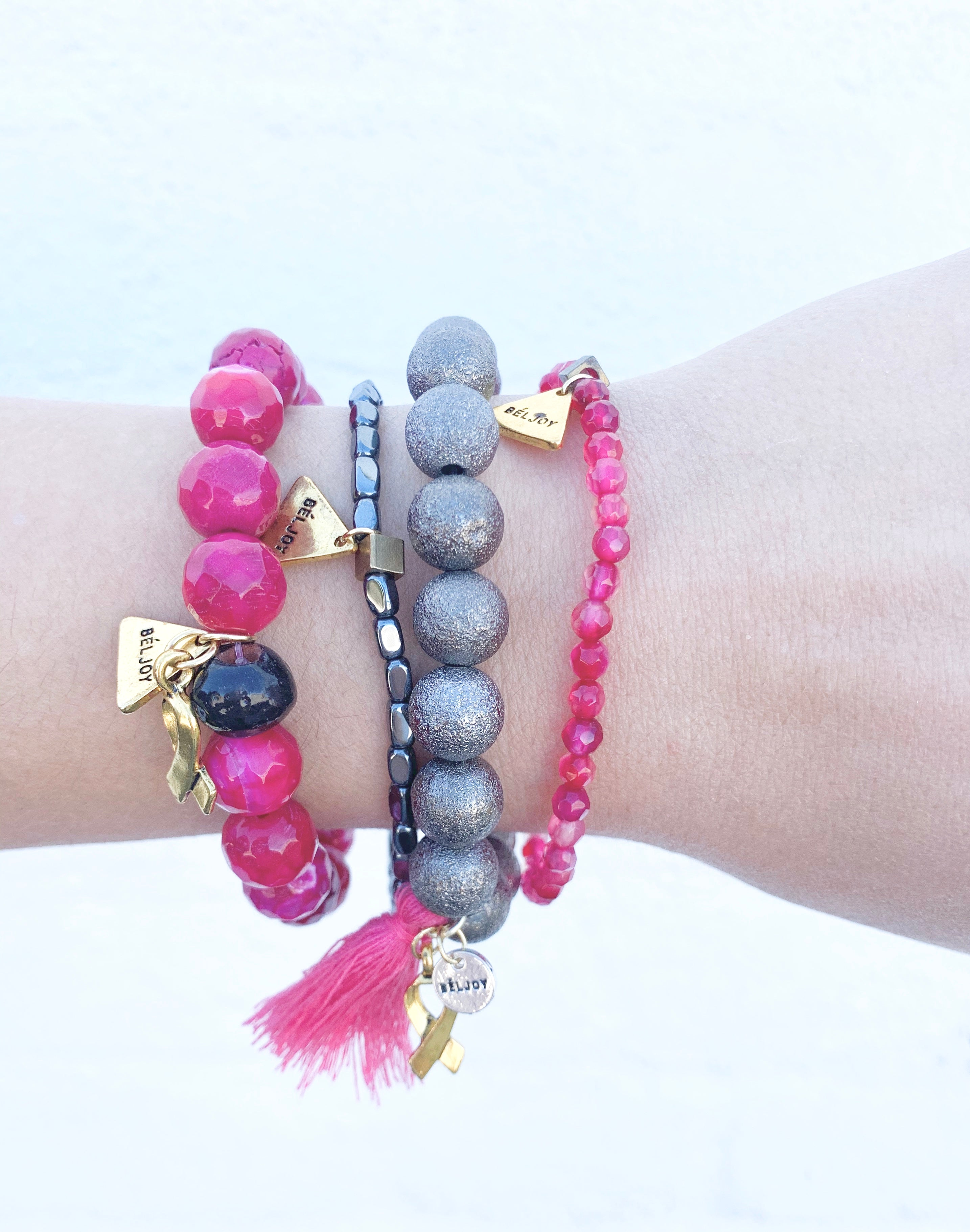 Breast Cancer Awareness Stack || Bright Pink