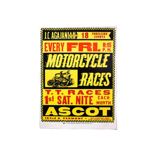 Motorcycle Races Poster
