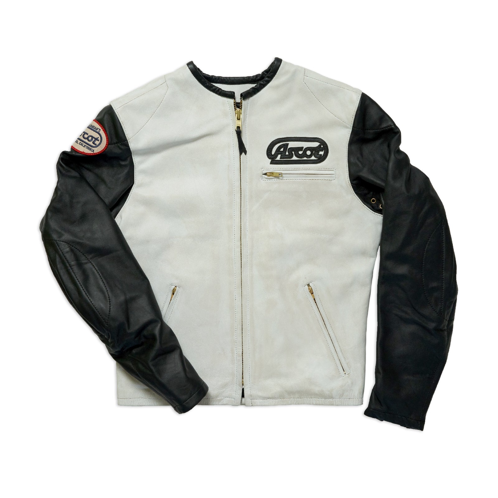 Ascot Racer Leather - Bone