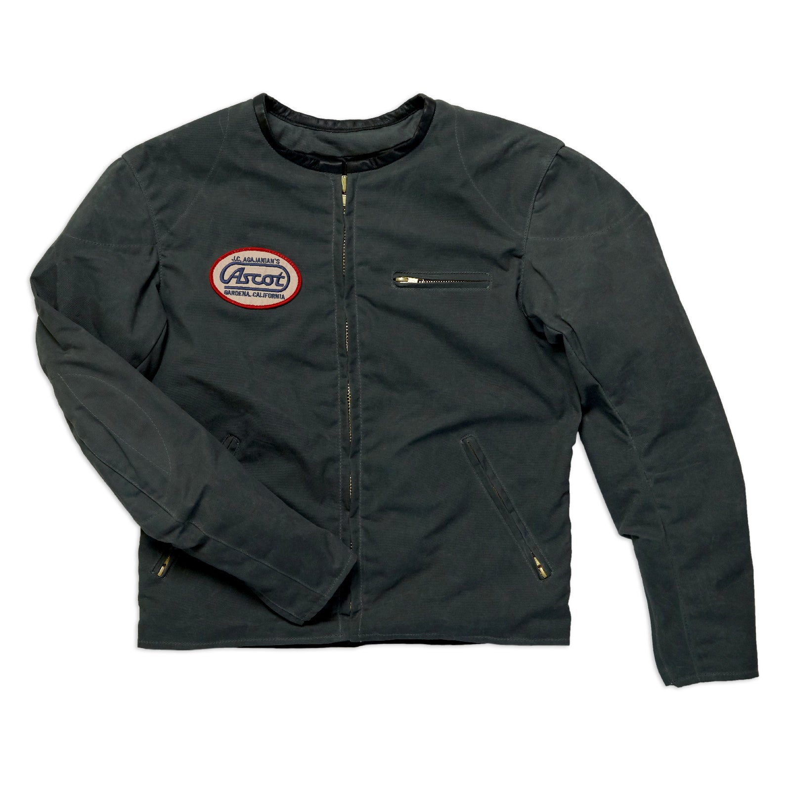 Canvas Racer Leather - Charcoal