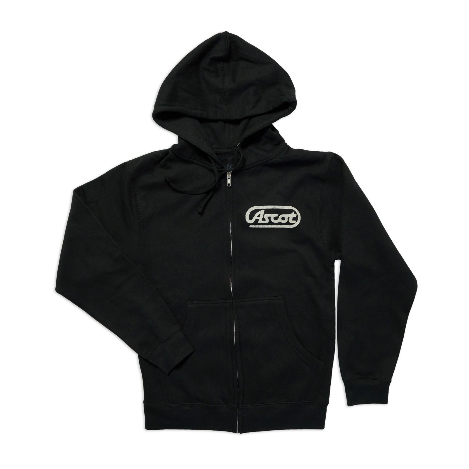 Ascot Zip Up - Black