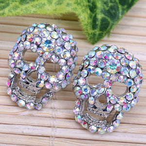 Swarovski Skull Earrings