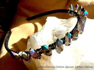 Purple Aura Rock Crystal Crown