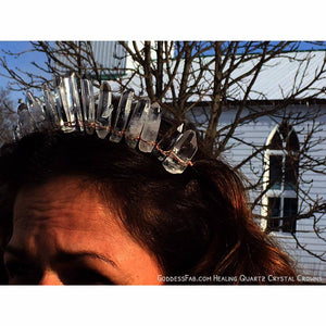 Natural Quartz Crystal Crown