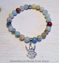 Amazonite Silver Angel Bracelet