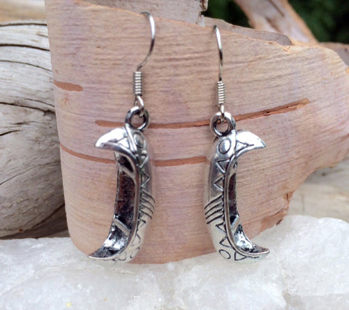 Silver Heritage Canoe Earrings