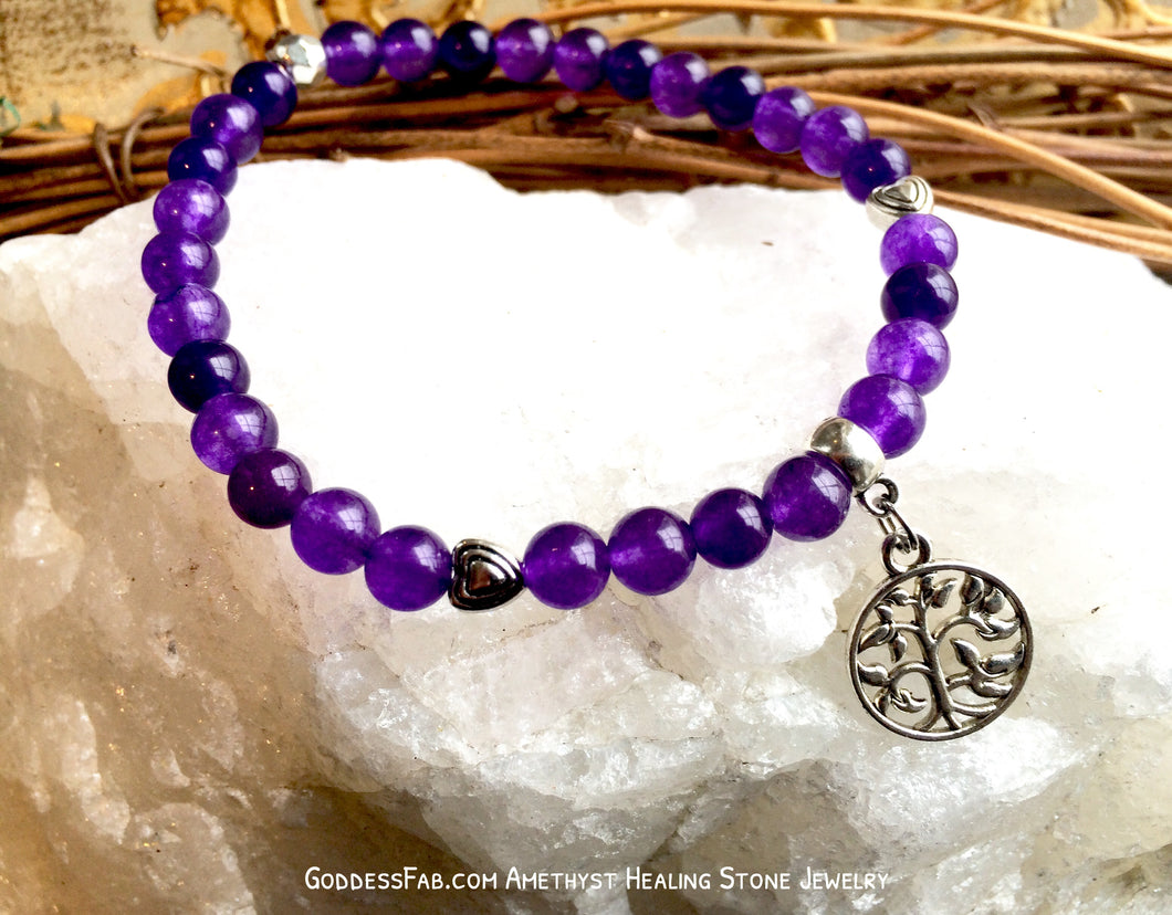 Amethyst Tree of Life Bracelet