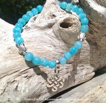 Aquamarine Celtic Knot Turtle Bracelet