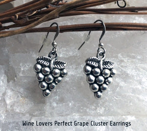 Wine Lovers Perfect Grape Cluster Earrings