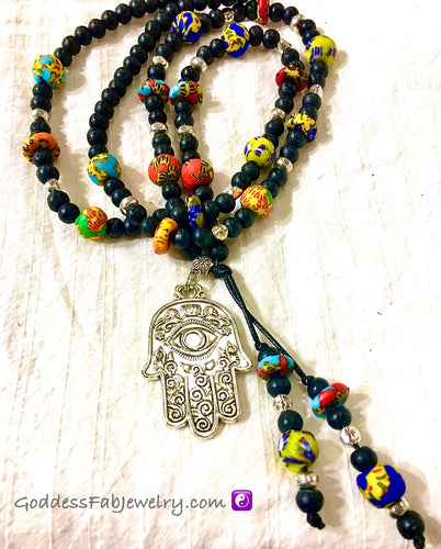 """Hamsa of Hope"" Mala Necklace"