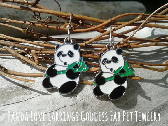 Panda Love Earrings