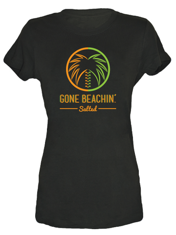 Gone Beachin' Salted Logo , Tees - Gone Beachin' Salted, Gone Beachin' Apparel Co.