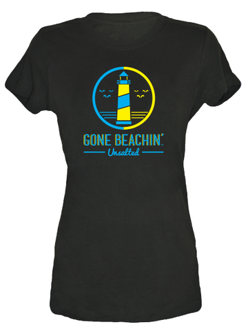 Gone Beachin' Unsalted Logo , Tees - Gone Beachin' Unsalted, Gone Beachin' Apparel Co.