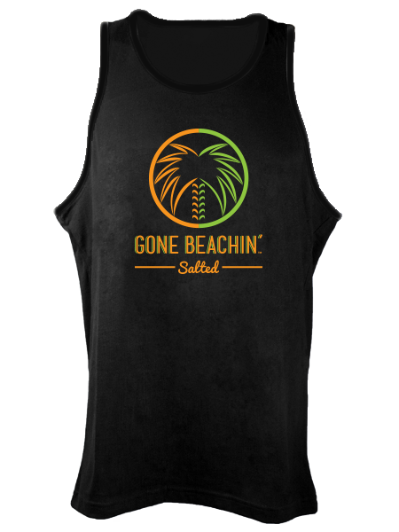 Gone Beachin' Salted Logo , Tanks - Gone Beachin' Salted, Gone Beachin' Apparel Co.