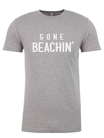 Gone Beachin' Tee S / Heather Grey, Tees - Gone Beachin' Apparel Co., Gone Beachin' Apparel Co. - 1