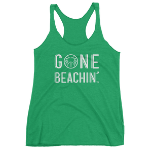 Gone Beachin' Bold Racerback Tank - Gone Beachin'