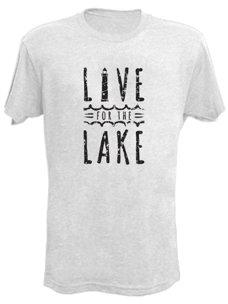 Live for the Lake S / Coconut White, Tees - Gone Beachin' Unsalted, Gone Beachin' Apparel Co.