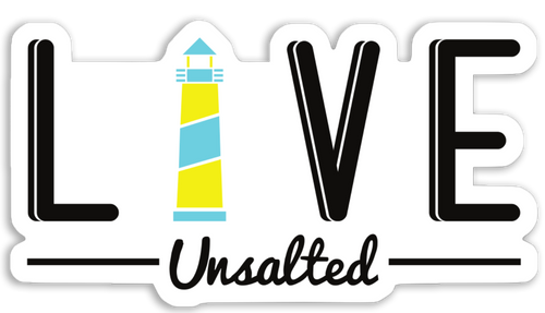 LIVE Unsalted Sticker - Gone Beachin'