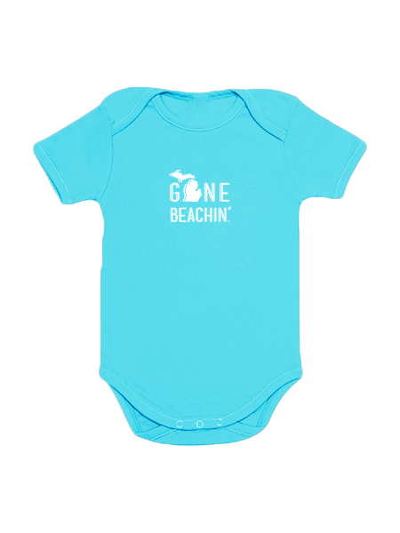 Michigan Gone Beachin' Short Sleeve Onesie - Gone Beachin' Apparel Co.