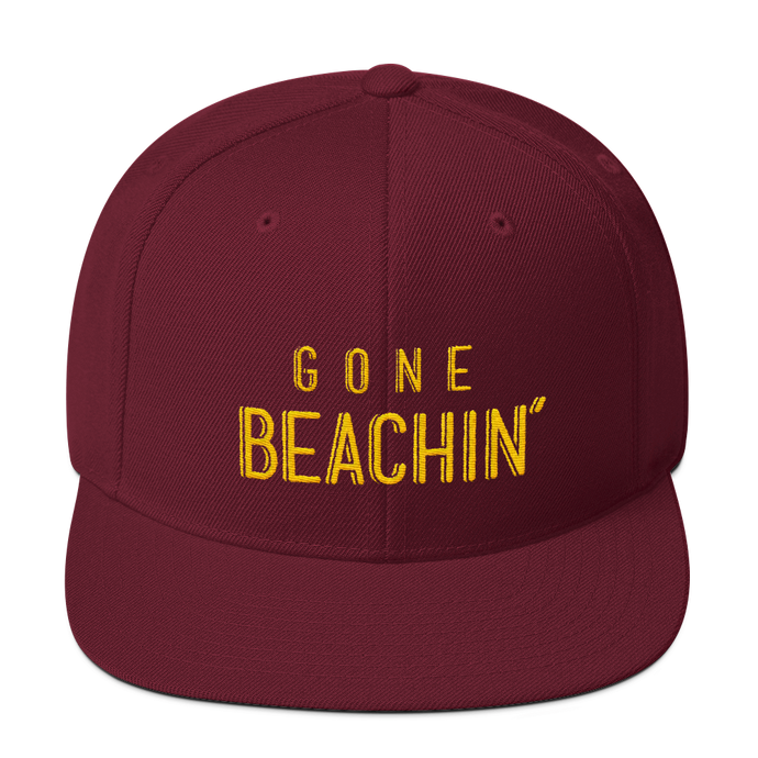 Gone Beachin' Maroon & Yellow Snapback - Gone Beachin'