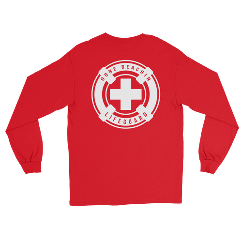 Gone Beachin' Lifeguard Long Sleeve Shirt