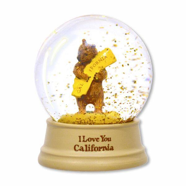 California Bear Hug - Mini Snow Globe - Very Ventura Gift Shop & Gallery