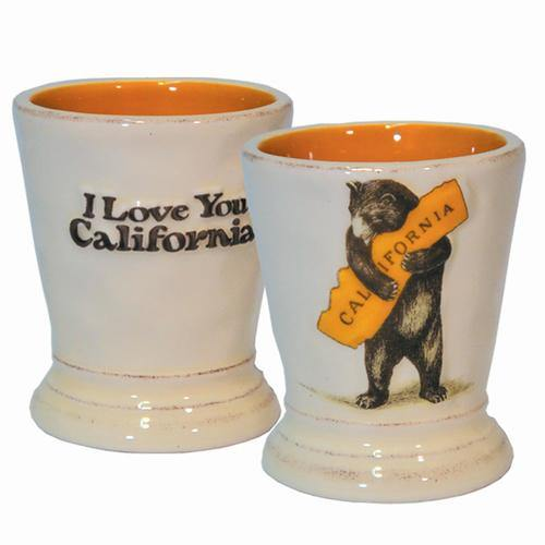 California Bear Hug Ceramic Shot Glass