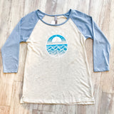 Ventura Coast Women's Raglan Tee - Light Blue