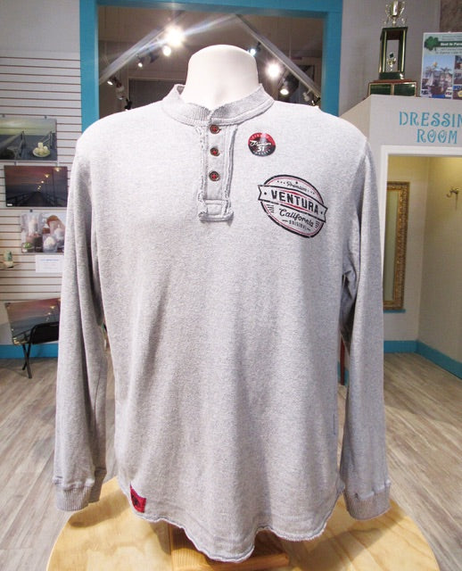 P51 Ventura Button Up Pullover - Light Grey