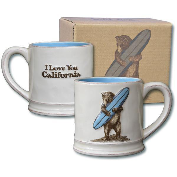 Cal Surf Bear Ceramic Mug - Very Ventura Gift Shop & Gallery