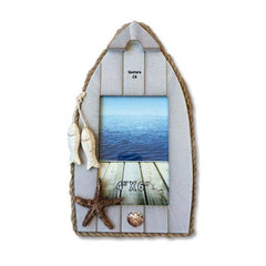 """Boat at Dock"" Photo Frame"