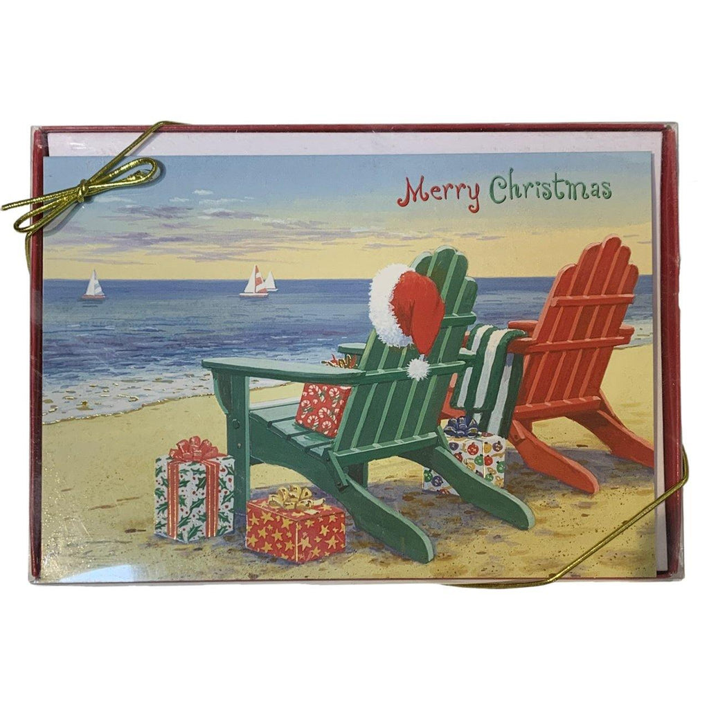 'Merry Christmas' Chairs Holiday Cards - Very Ventura Gift Shop & Gallery