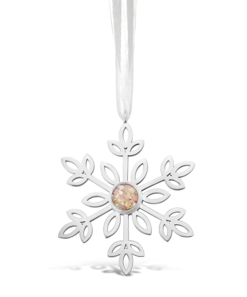 Snowflake Ornament - Mother of Pearl - Very Ventura Gift Shop & Gallery