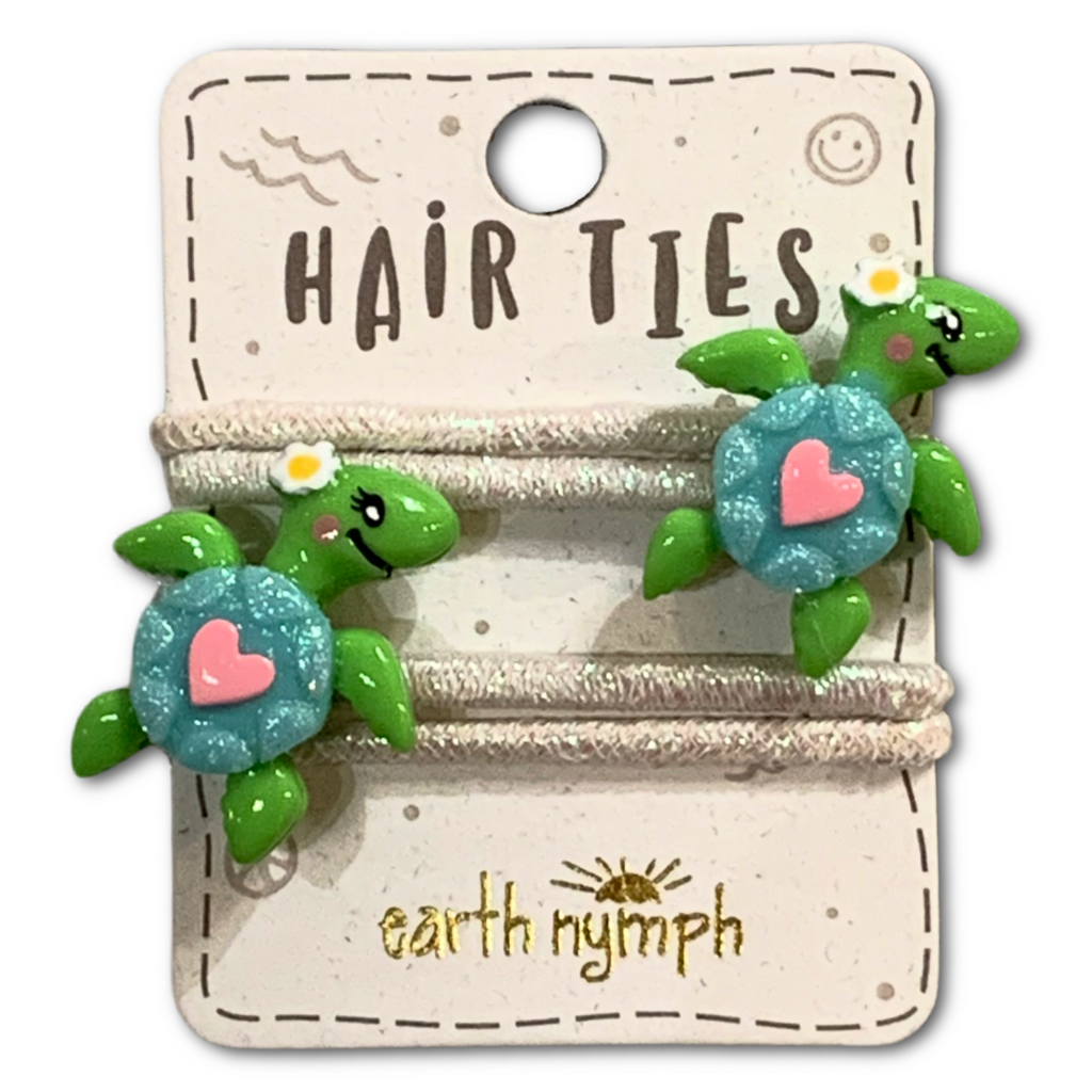 Sparkly Turtle Hair Ties - Very Ventura Gift Shop & Gallery