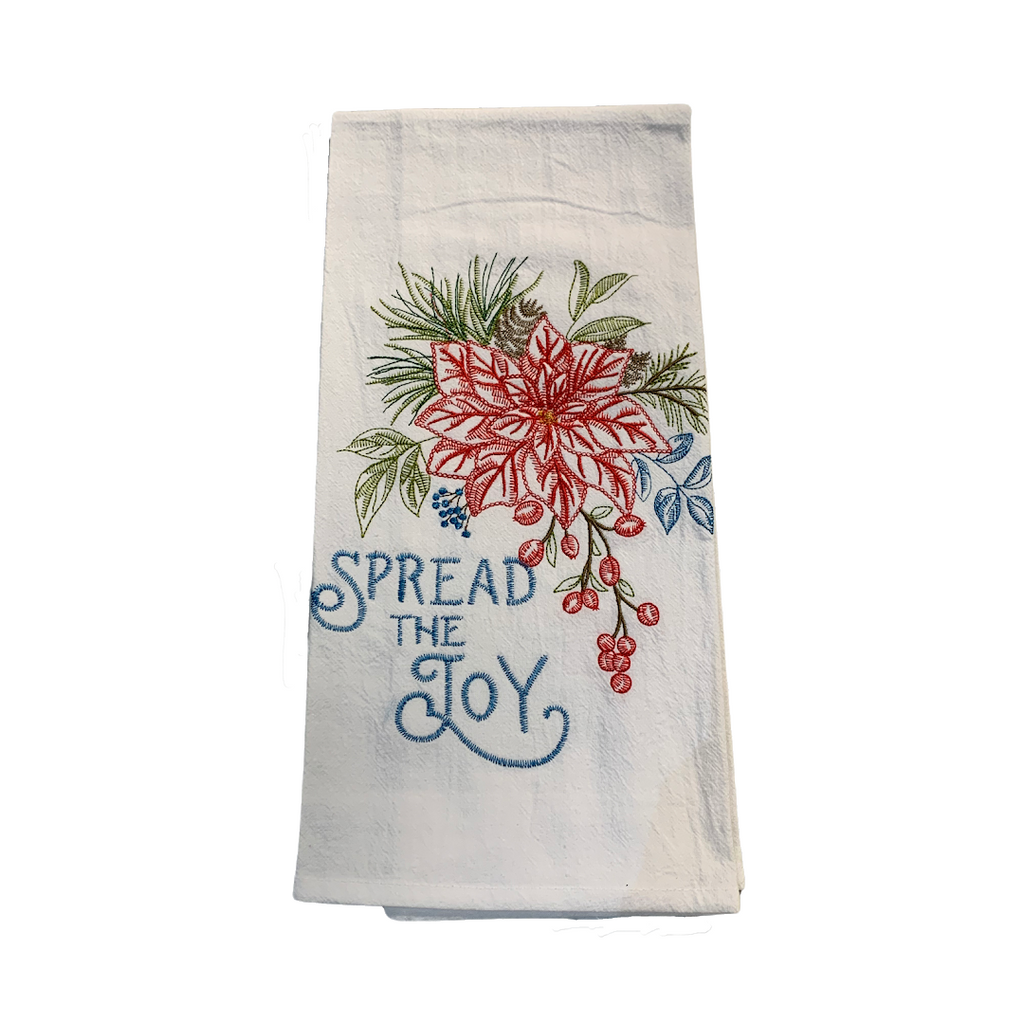 'Spread the Joy' Tea Towel - Very Ventura Gift Shop & Gallery