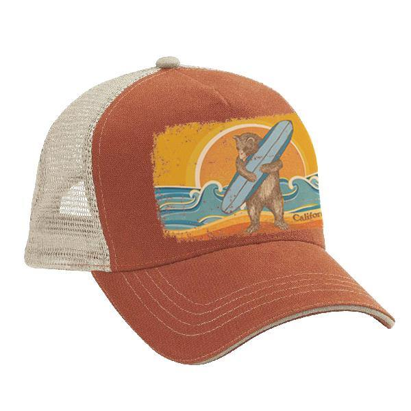 CA Surf Bear Trucker Cap - Very Ventura Gift Shop & Gallery