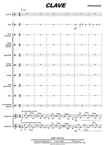 Clave for Percussion Ensemble - Score