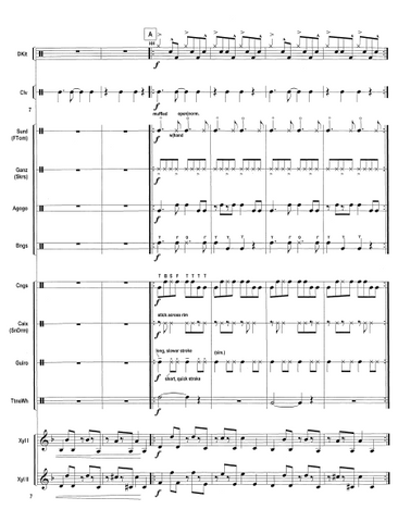 Clave for Percussion Ensemble - Score Page 2