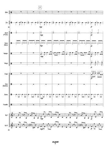 Clave for Percussion Ensemble - Score Page 6